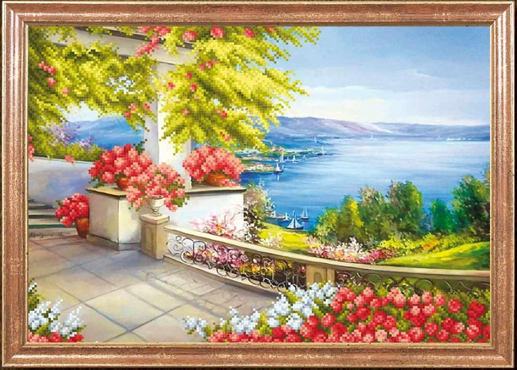 """КС-075 """"Цветочный пейзаж"""" - схема для вышивания (Магия канвы)"""