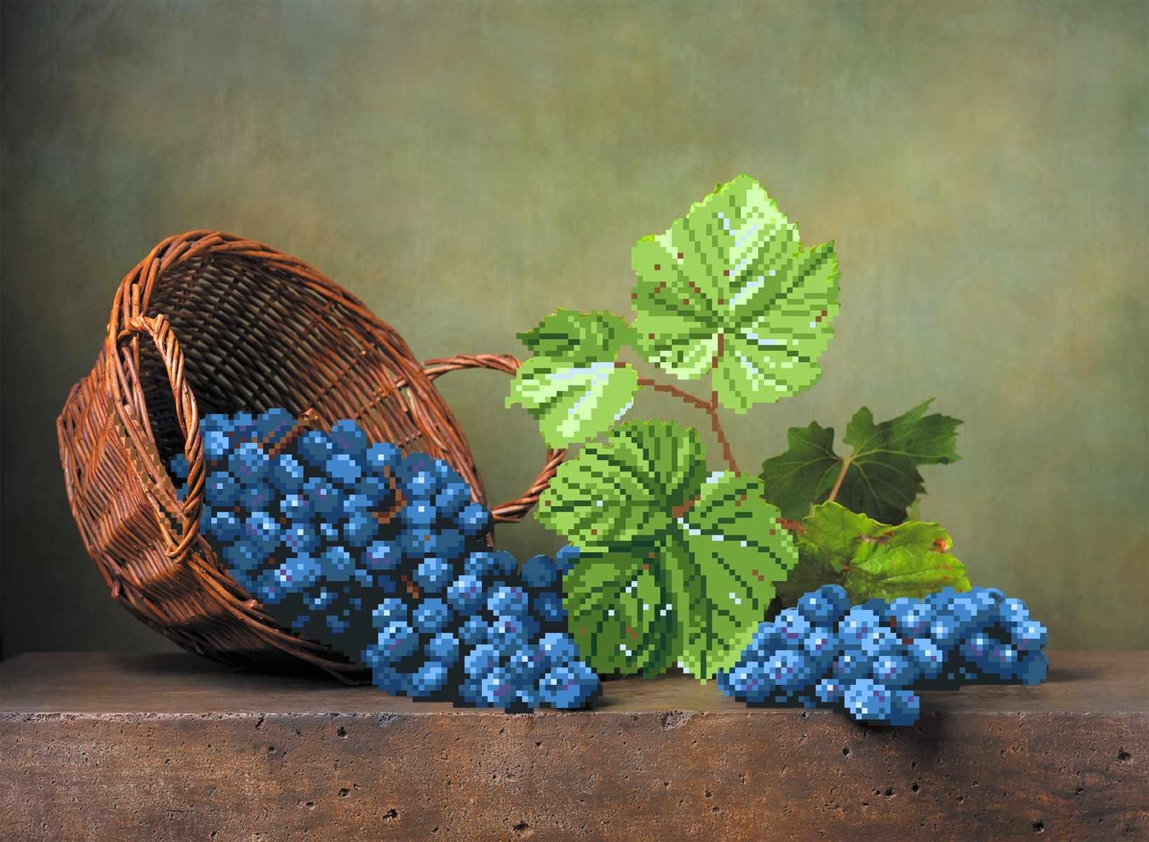 4197 Виноградная лоза - схема для вышивания (Матрёнин посад)
