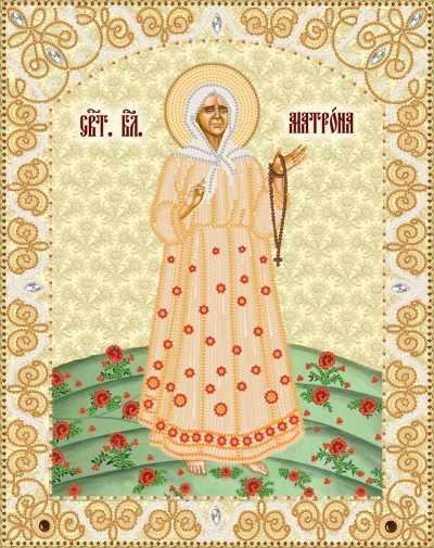 РИК-3-017 Св. Блж. Матрона Московская - схема для вышивания (Марiчка)
