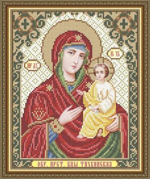 VIA4259 Тихвинская Образ Пресвятой Богородицы - схема для вышивания (Art Solo)
