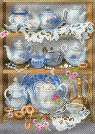 1786 Семейный сервиз -рисунок на канве (МП)