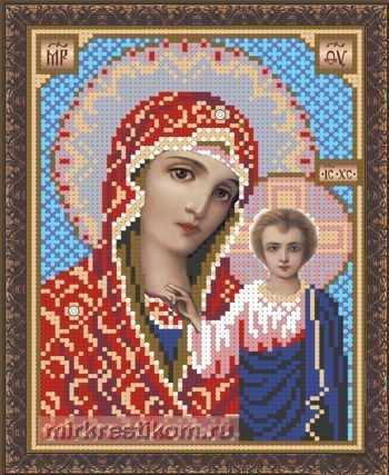 ББ-302 Образ Казанской Пр. Богородицы  - схема для вышивания (Искусница)
