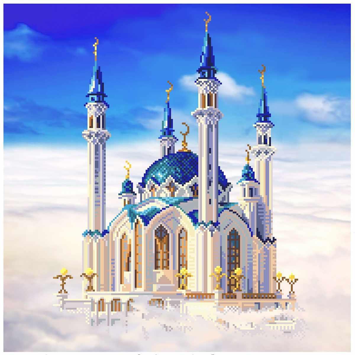 1798 Мечеть Кул-Шериф в Казани - рисунок на канве (МП)