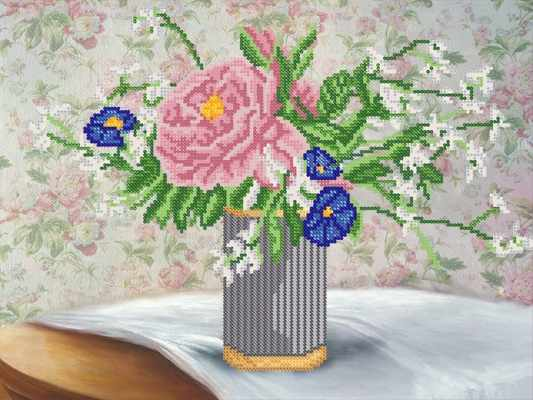 РКП-537 Розовый жемчуг - схема для вышивания (Марiчка)