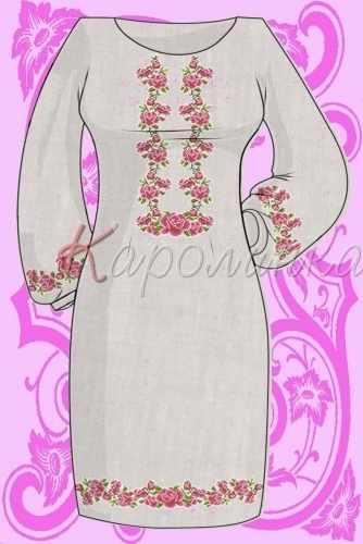 КБС/пл/-03 Заготовка для вышивки платья (Каролинка)