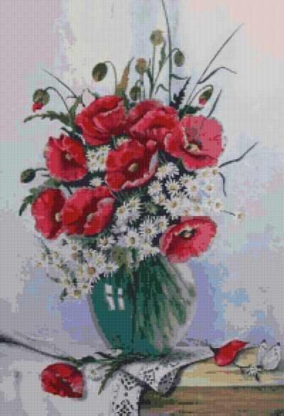 50107 Маки и ромашки - мозаика Anya