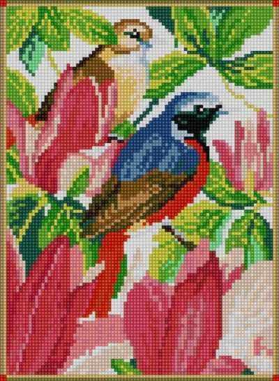 50082 Птицы в саду - мозаика Anya