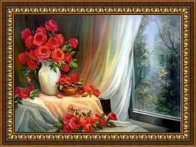 G-091 Розы у окна