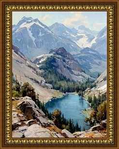 G-075 Озеро в горах