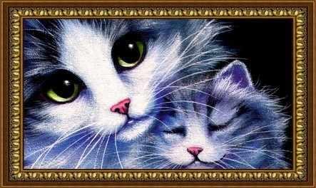 Y-045 Кошка с котёнком