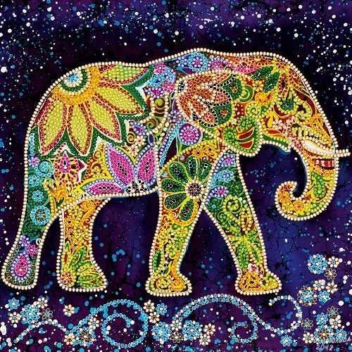 АС-498 Индийский слон - схема для вышивания (Абрис Арт)