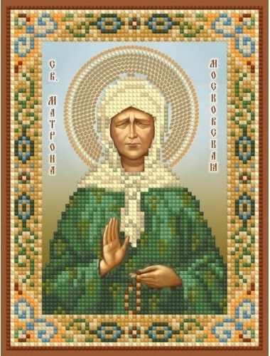 бис-038 Св. Матрона Московская - схема для вышивания (Художественные мастерские)