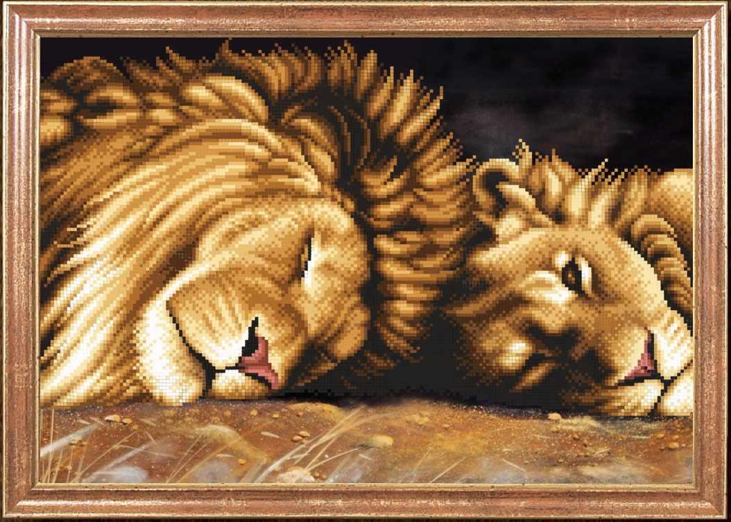 КС-091 Львы отдыхают - схема для вышивания (Магия канвы)