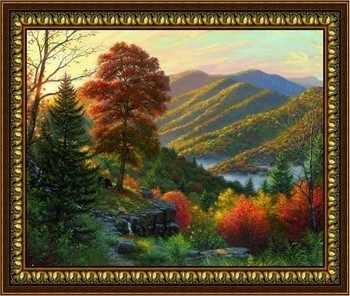Y-018  Утренний пейзаж, фрагмент