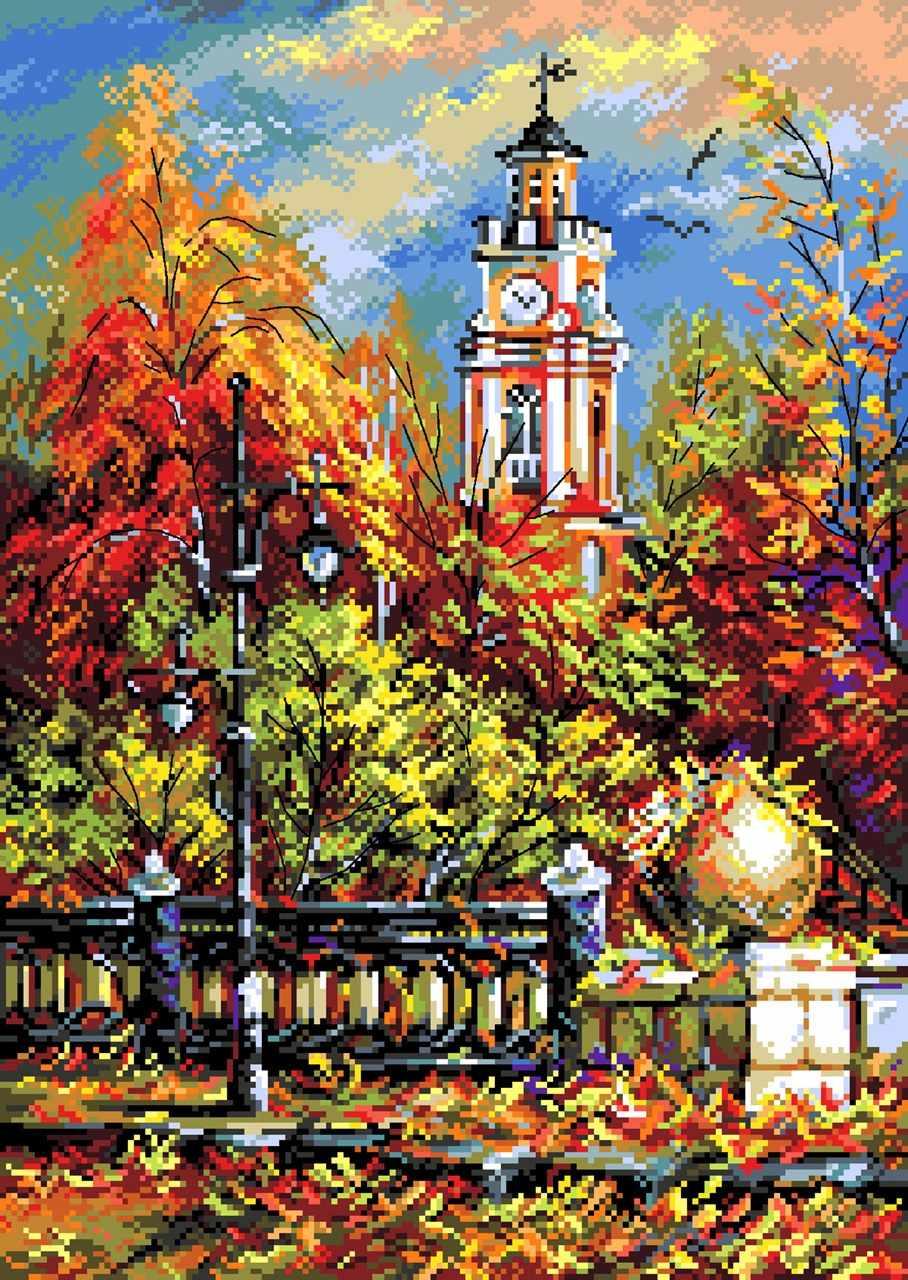 1821 Божественная осень - рисунок на канве (МП)