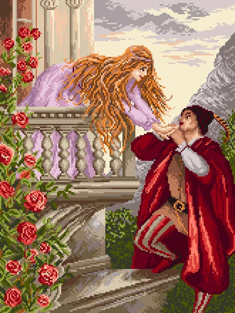 1817 Признание Ромео - рисунок на канве (МП)