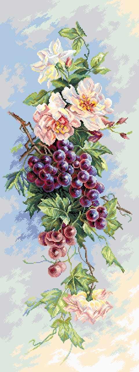 1820 Виноградная лоза - рисунок на канве (МП)