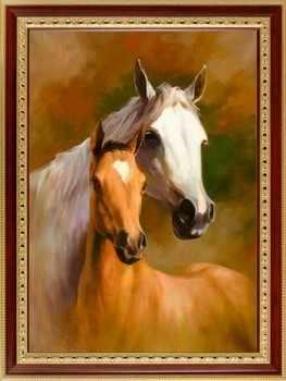 117  Лошадь с жеребёнком