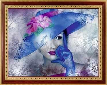 136  Девушка в голубой шляпе