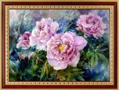 129  Куст розовых пионов