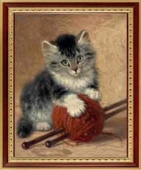 144  Котёнок и клубок