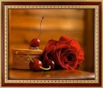 131  Роза с вишнями
