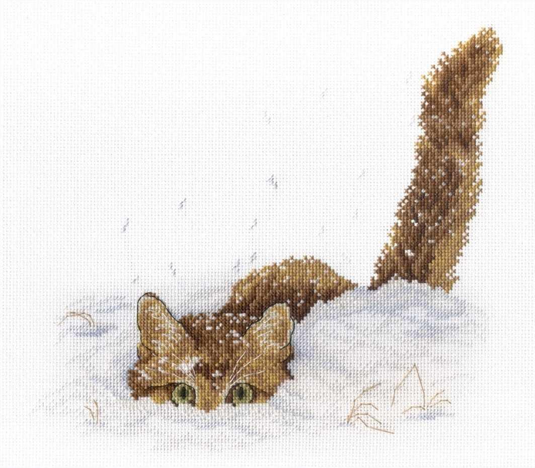 НВ-557 Кот в снегу (МП Студия)
