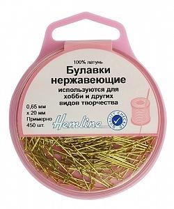 712 Булавки-гвоздики  в пластиковом круглом контейнере , 20 мм,  25гр (приблизит.450 шт)
