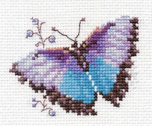 0-149 Яркие бабочки. Голубая