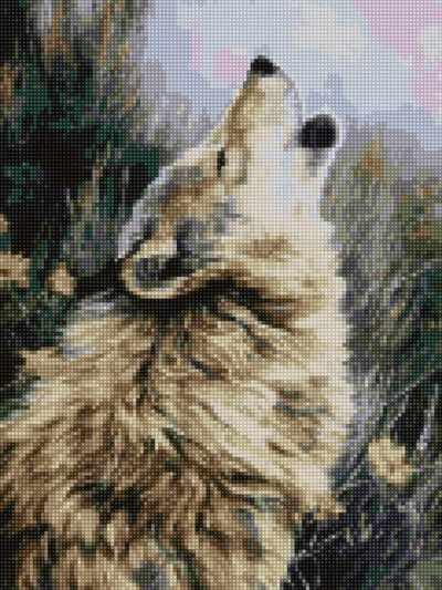 Алмазная вышивка 50142 Волк - мозаика Anya