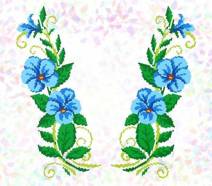 K278 Голубые цветы