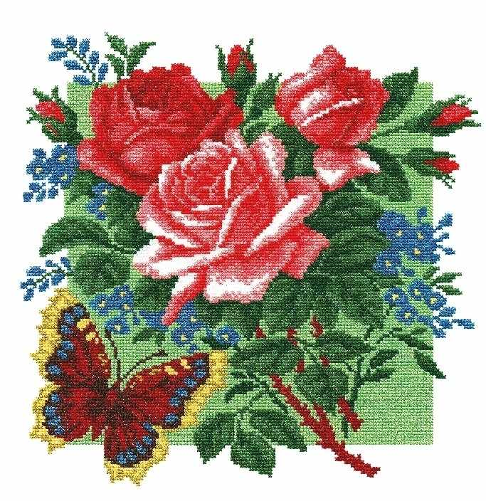 """862 """"Розы и бабочки"""""""
