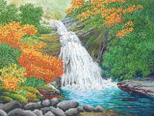 РКП-593 Водопад - схема для вышивания (Марiчка)