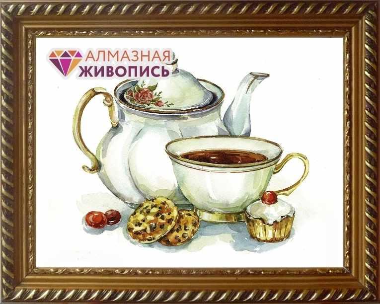 Алмазная вышивка Сладости к чаю (АЖ-1426) - картина стразами