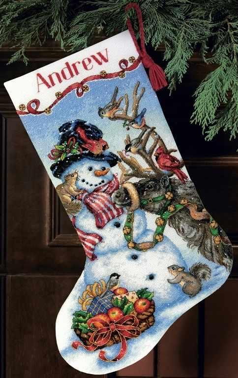 8866-70 DMS Snowman Gathering Stocking