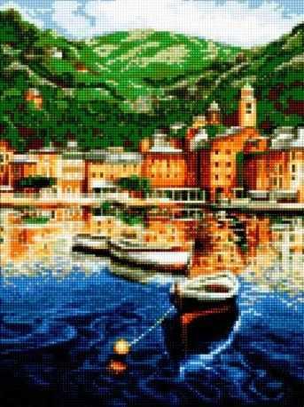 50163 Рыбацкая деревушка - мозаика Anya