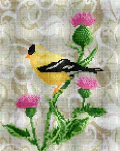 Алмазная вышивка 50169 Пташка - мозаика Anya