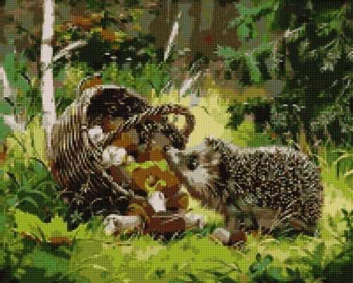 50170 Ежик в лесу - мозаика Anya