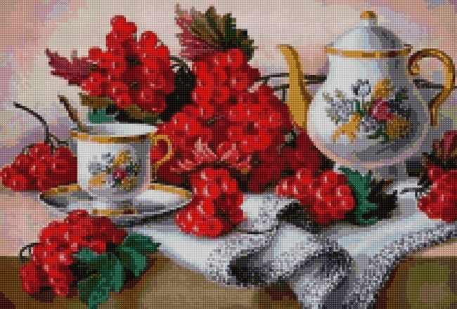 50190 Натюрморт с калиной - мозаика Anya
