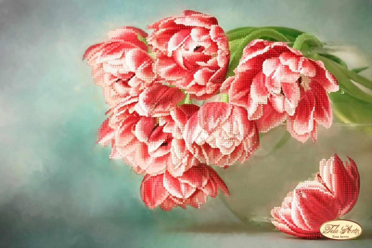 ТА-287 Бокэ. Тюльпаны Андорра - схема для вышивания (Tela Artis)