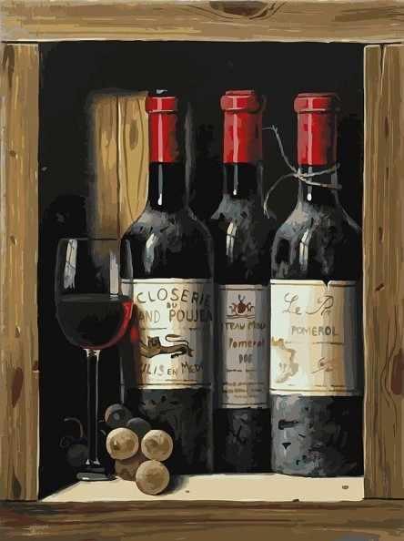 307-AS Коллекционное вино - раскраска (Белоснежка)