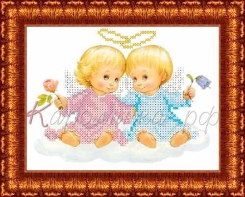 КБАН(ч) 5011 Два ангелочка-набор (Каролинка)