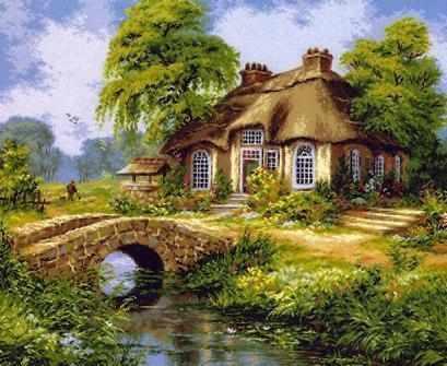 1029 Голландский сельский пейзаж