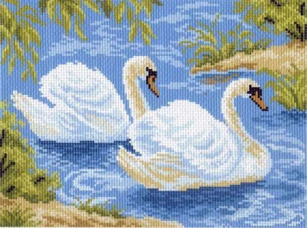 559-1 Тундровые лебеди - рисунок на канве (МП)