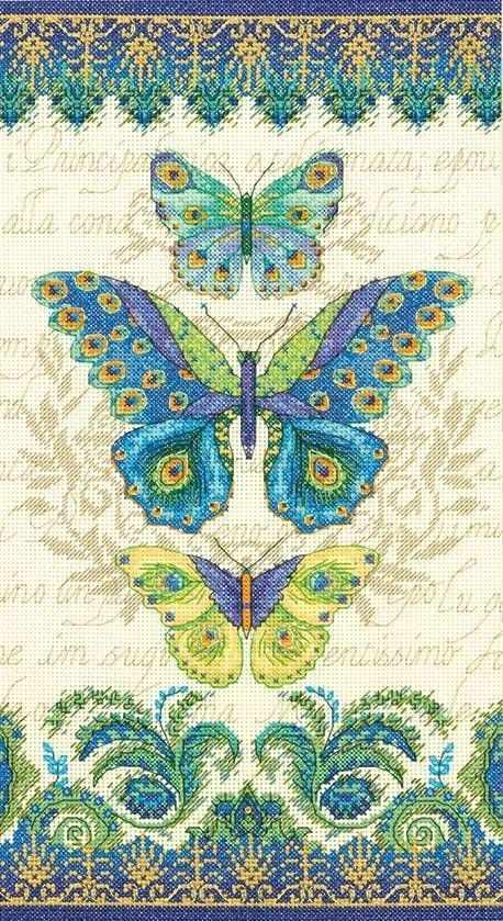 35323-DMS Бабочки с узором павлина