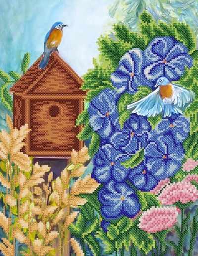 РКП-616 Птичьи хлопоты  - схема для вышивания (Марiчка)