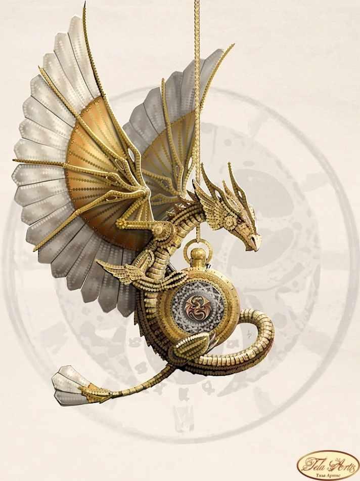 ТА-291 - Стимпанк.Дракон - схема для вышивания (Tela Artis)