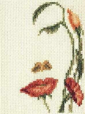 6-064 Лицо-цветы