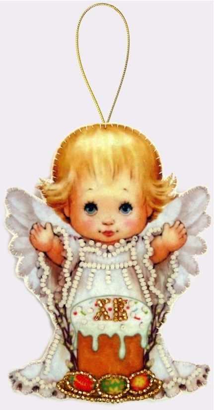 F054 Пасхальный ангелочек - Butterfly