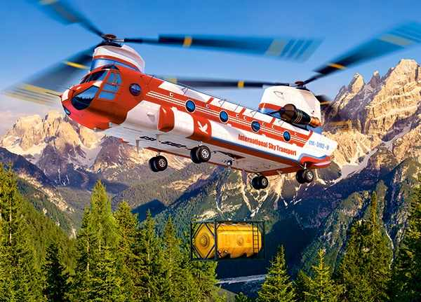 В-018239 Вертолет,180 деталей